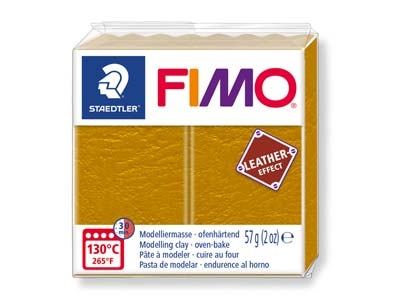 Fimo Leather Effect Ochre 57g      Polymer Clay Block Fimo Colour     Reference 179