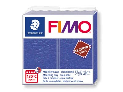 Fimo Leather Effect Indigo 57g     Polymer Clay Block Fimo Colour     Reference 309
