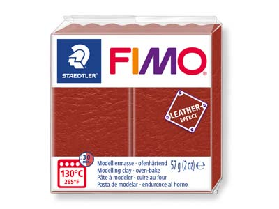 Fimo Leather Effect Rust 57g       Polymer Clay Block Fimo Colour     Reference 749
