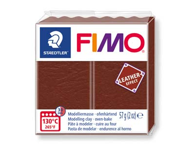 Fimo Leather Effect Nut 57g Polymer Clay Block Fimo Colour Reference    779