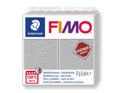 Fimo Leather Effect Dove Grey 57g  Polymer Clay Block Fimo Colour     Reference 809
