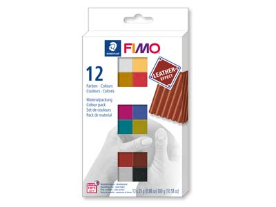 Fimo Leather Effect Colour         Pack of 12,