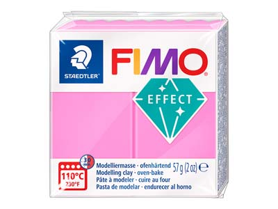 Fimo Effect Neon Fuschia 57g       Polymer Clay Block Fimo Colour     Reference 201