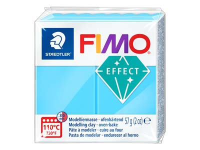 Fimo Effect Neon Blue 57g Polymer  Clay Block Fimo Colour Reference   301