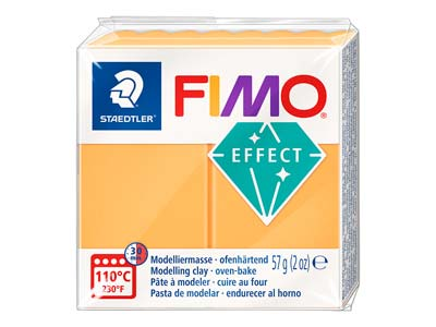 Fimo Effect Neon Orange 57g Polymer Clay Block Fimo Colour Reference    401