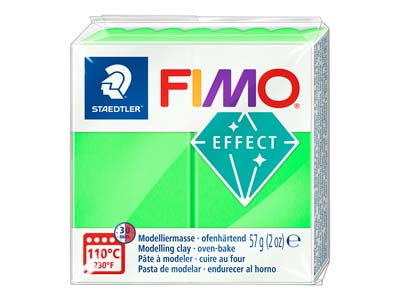 Fimo Effect Neon Green 57g Polymer Clay Block Fimo Colour Reference   501