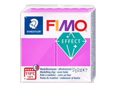 Fimo Effect Neon Purple 57g Polymer Clay Block Fimo Colour Reference    601