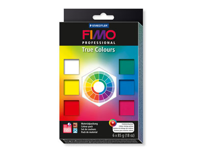 Fimo Professional True Colours Set Of Six 85g Polymer Clay Blocks