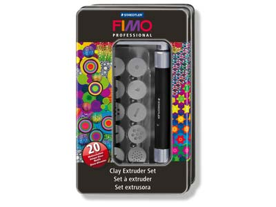 Fimo Professional Clay Extruder    Tool Set With 20 Motif Discs