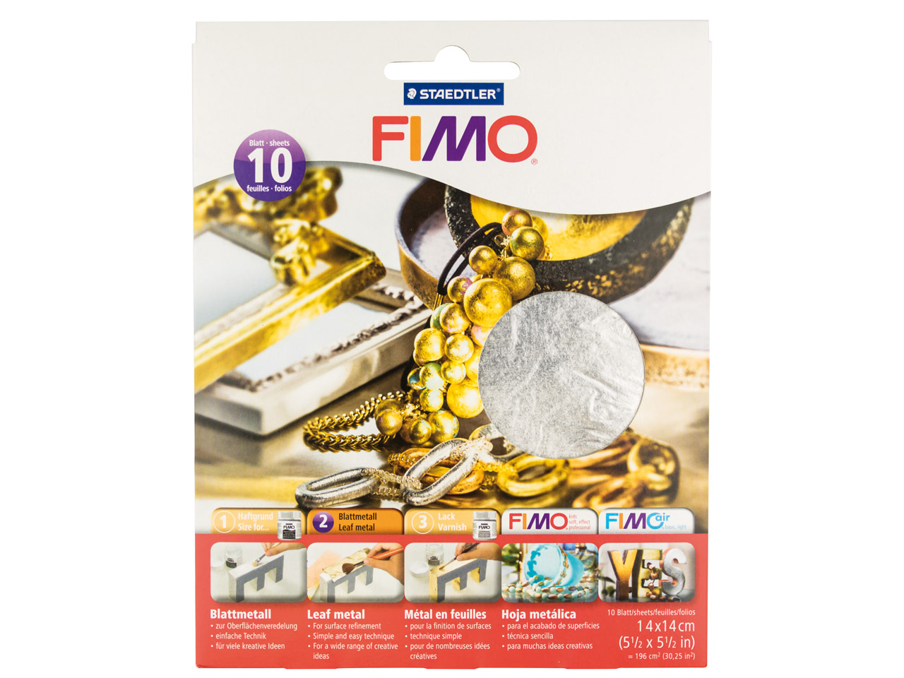 Fimo Silver Leaf Metal 10 Sheets