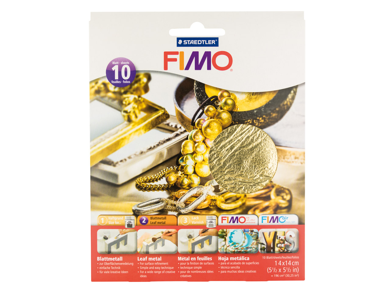 Fimo Gold Leaf Metal , 10 Sheets