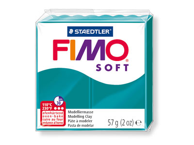 Fimo Soft Petrol 57g Polymer Clay  Block Fimo Colour Reference 36