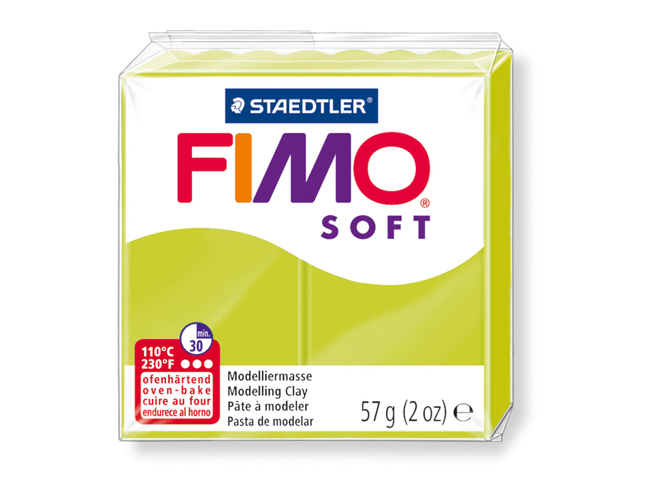 Fimo Soft Green Lime 57g Polymer   Clay Block Fimo Colour Reference  52