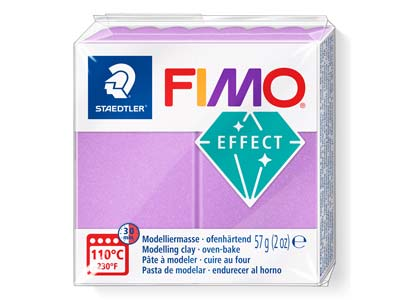 Fimo Effect Lilac 57g Polymer Clay Block Fimo Colour Reference 607