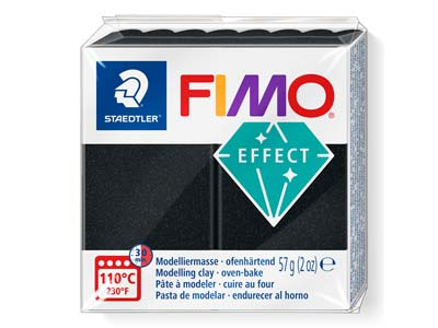 Fimo Effect Black 57g Polymer Clay Block, Fimo Colour Reference 907