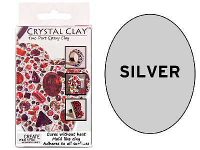 Crystal Clay Silver 50g Two Part Epoxy Clay