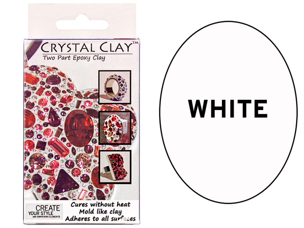 Crystal Clay, White, 50g Two Part  Epoxy Clay