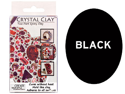 Crystal Clay Black 50g Two Part Epoxy Clay