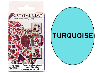 Crystal Clay Turquoise 50g Two Part Epoxy Clay