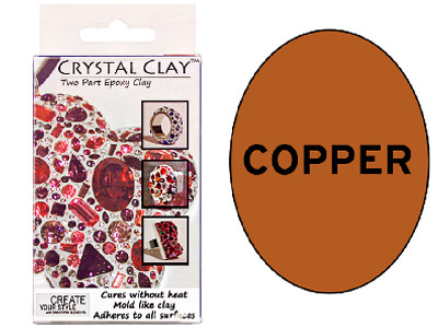 Crystal Clay Copper 50g Two Part Epoxy Clay
