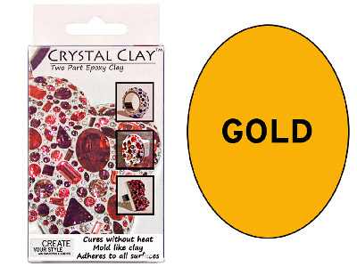 Crystal Clay Gold 50g Two Part Epoxy Clay