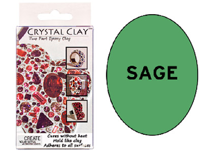 Crystal Clay Sage 50g Two Part Epoxy Clay