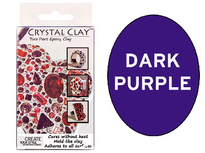 Crystal Clay Dark Purple 50g Two Part Epoxy Clay