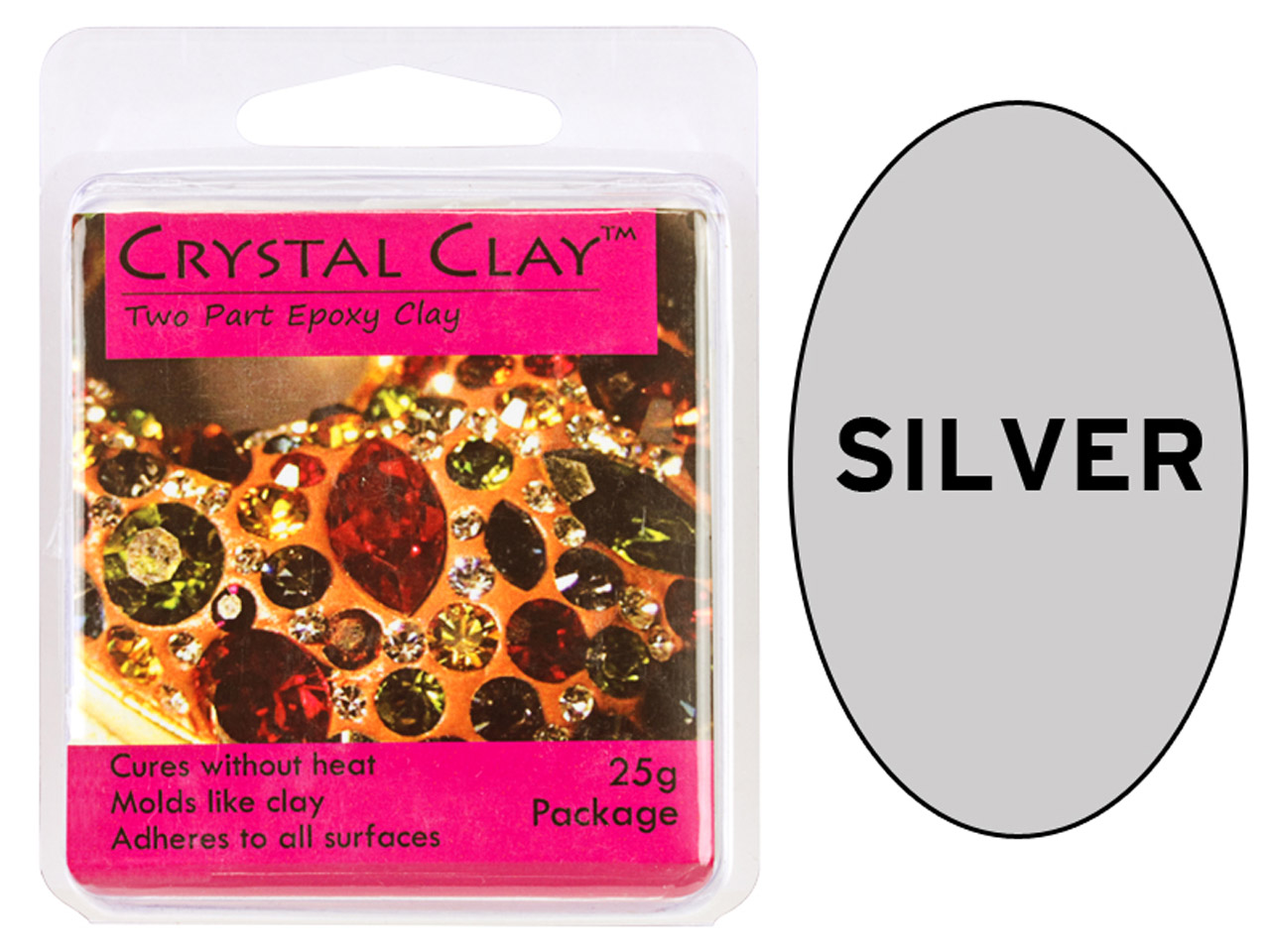 Crystal Clay Silver 25g Two Part   Epoxy Clay