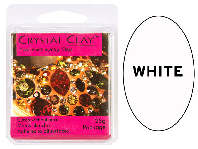 Crystal Clay White 25g Two Part Epoxy Clay