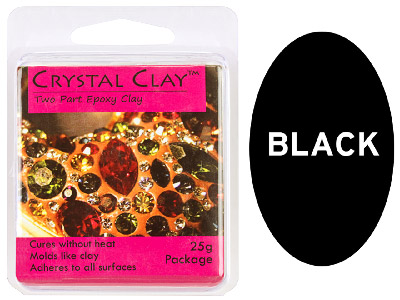 Crystal Clay Black 25g Two Part Epoxy Clay
