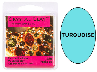 Crystal Clay Turquoise 25g Two Part Epoxy Clay