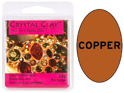 Crystal Clay Copper 25g Two Part Epoxy Clay