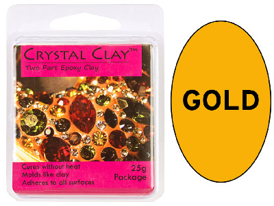 Crystal Clay Gold 25g Two Part Epoxy Clay