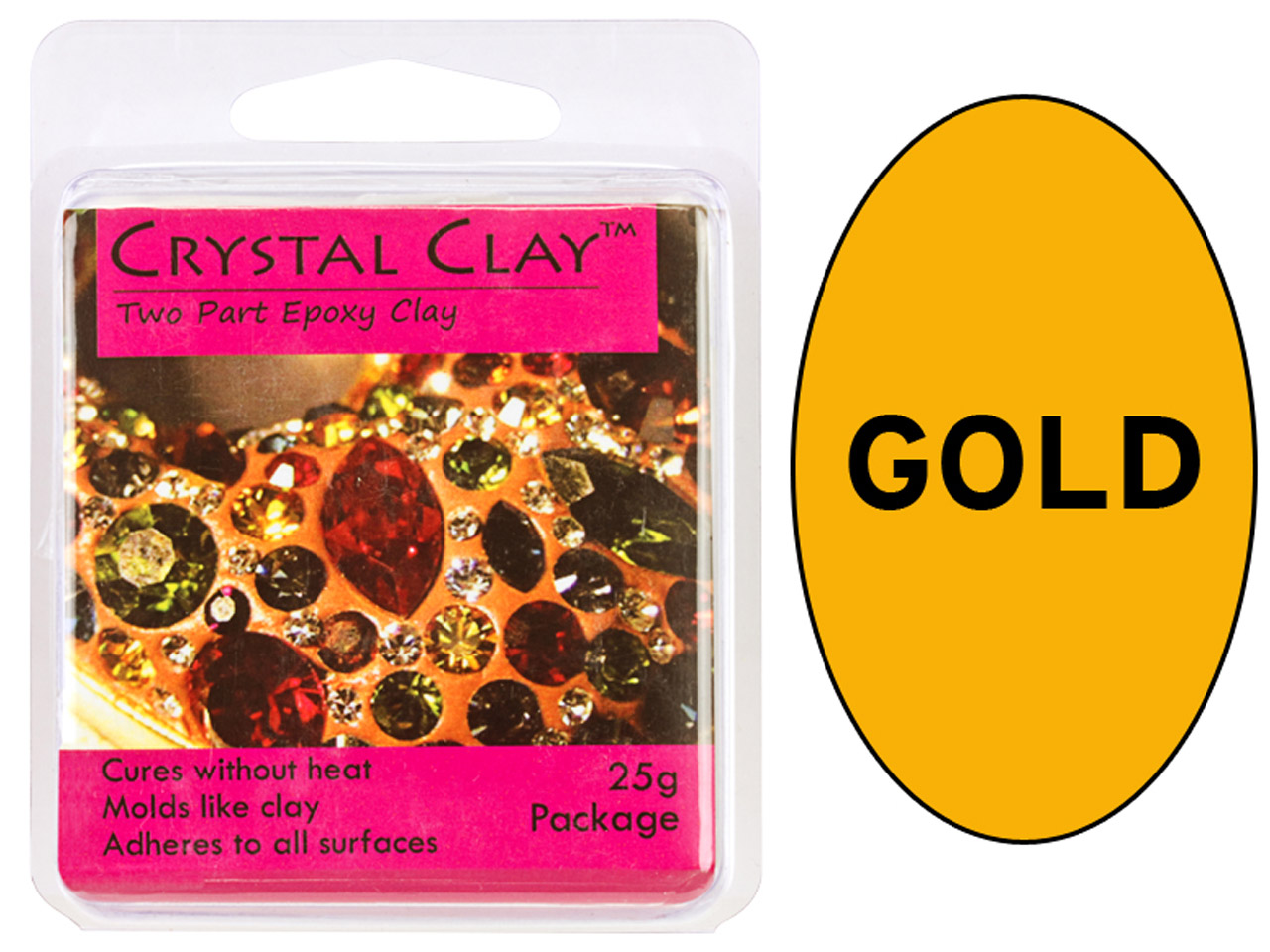 Crystal Clay, Gold, 25g Two Part   Epoxy Clay