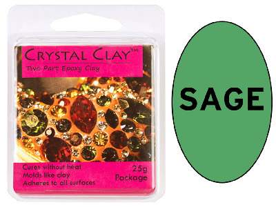Crystal Clay Sage 25g Two Part Epoxy Clay