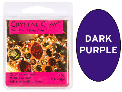 Crystal Clay Dark Purple 25g Two Part Epoxy Clay