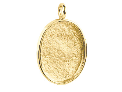 Oval Frame Pendant, 9ct 1 Micron Gold Plated Brass
