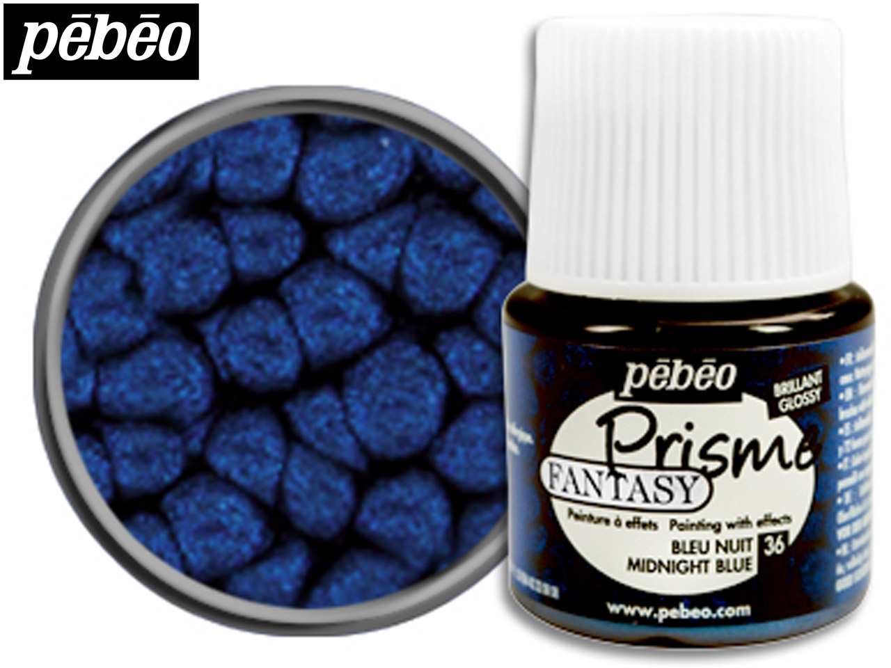 Pebeo Fantasy Prisme, Midnight     Blue, 45ml Un1263