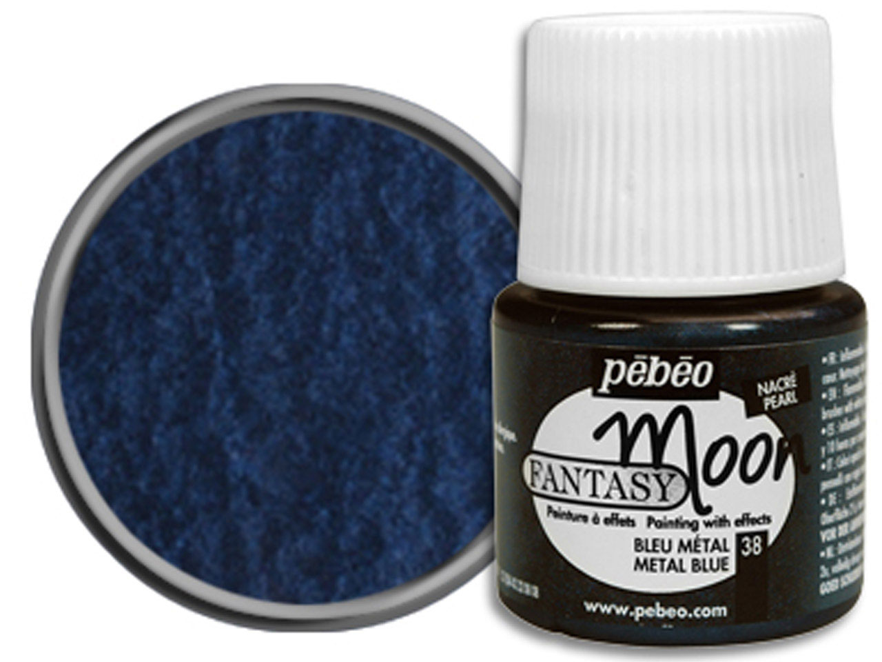 Pebeo Fantasy Moon, Metal Blue,    45ml Un1263