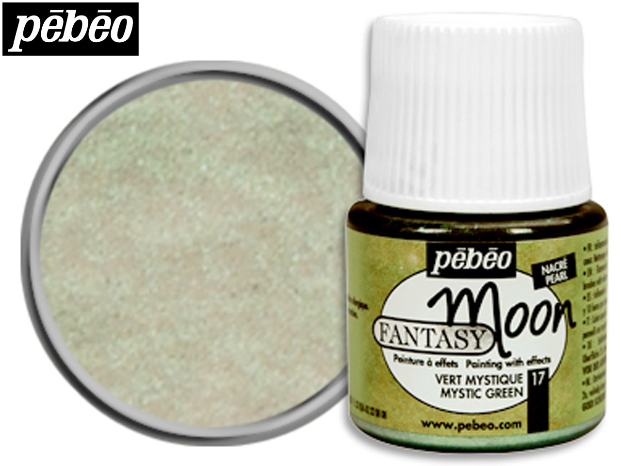 Pebeo Fantasy Moon, Mystic Green,  45ml Un1263