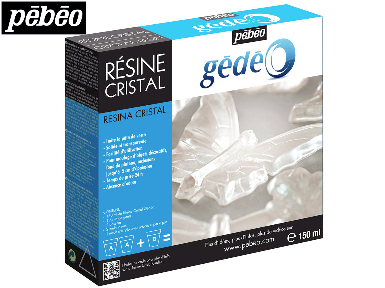 Gedeo Resin, Clear Crystal, 150ml  Un1760