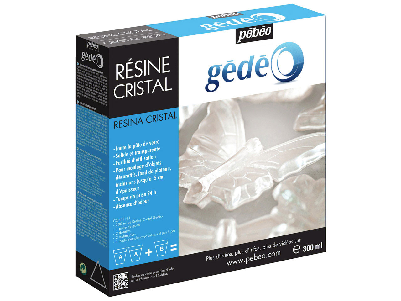 Gedeo Resin, Clear Crystal, 300ml  Un1760
