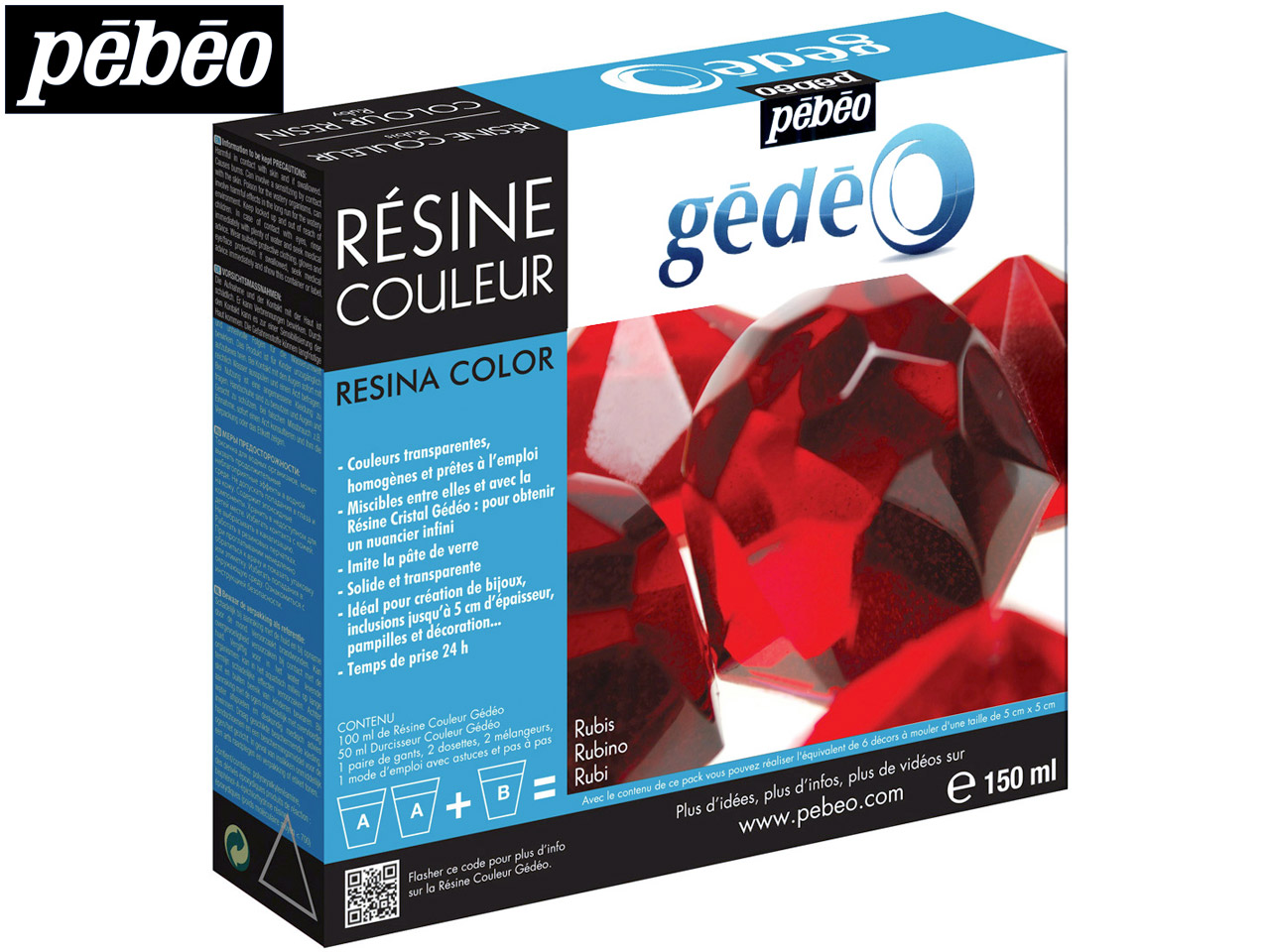 Gedeo Resin, Ruby, 150ml Un3316