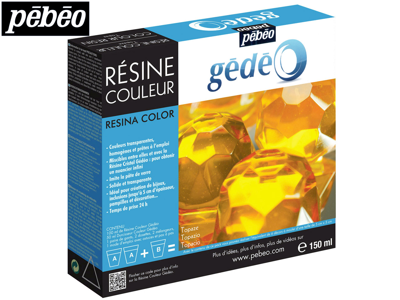 Gedeo Resin, Topaz, 150ml Un3316