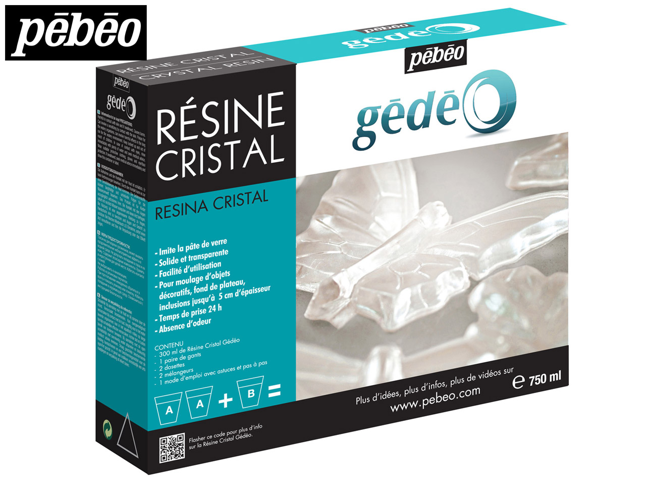 Gedeo Resin, Clear Crystal, 750ml  Un1760