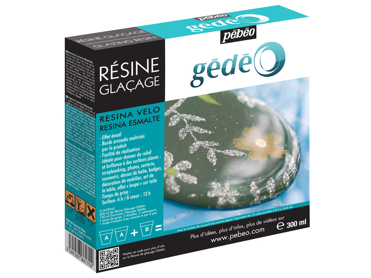 Gedeo Glazing Resin, Clear, 300ml  Un2735