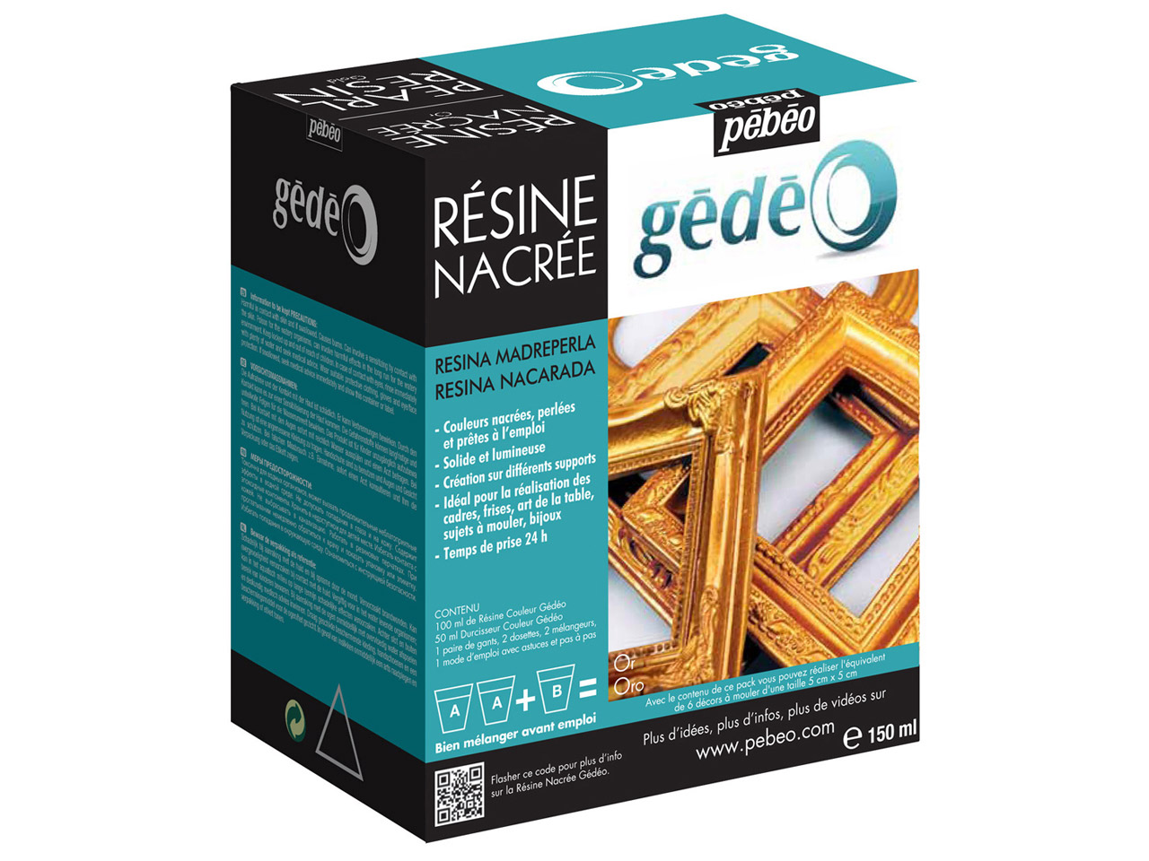 Gedeo Pearl Resin, Gold, 150ml     Un3316
