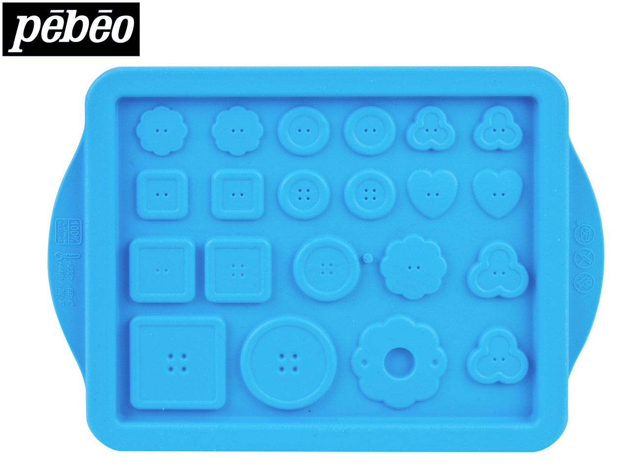 Pebeo Buttons Silicone Mould