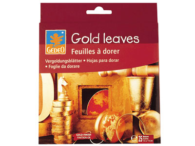 Gedeo Gold Leaves Pack of 25       14x14cm