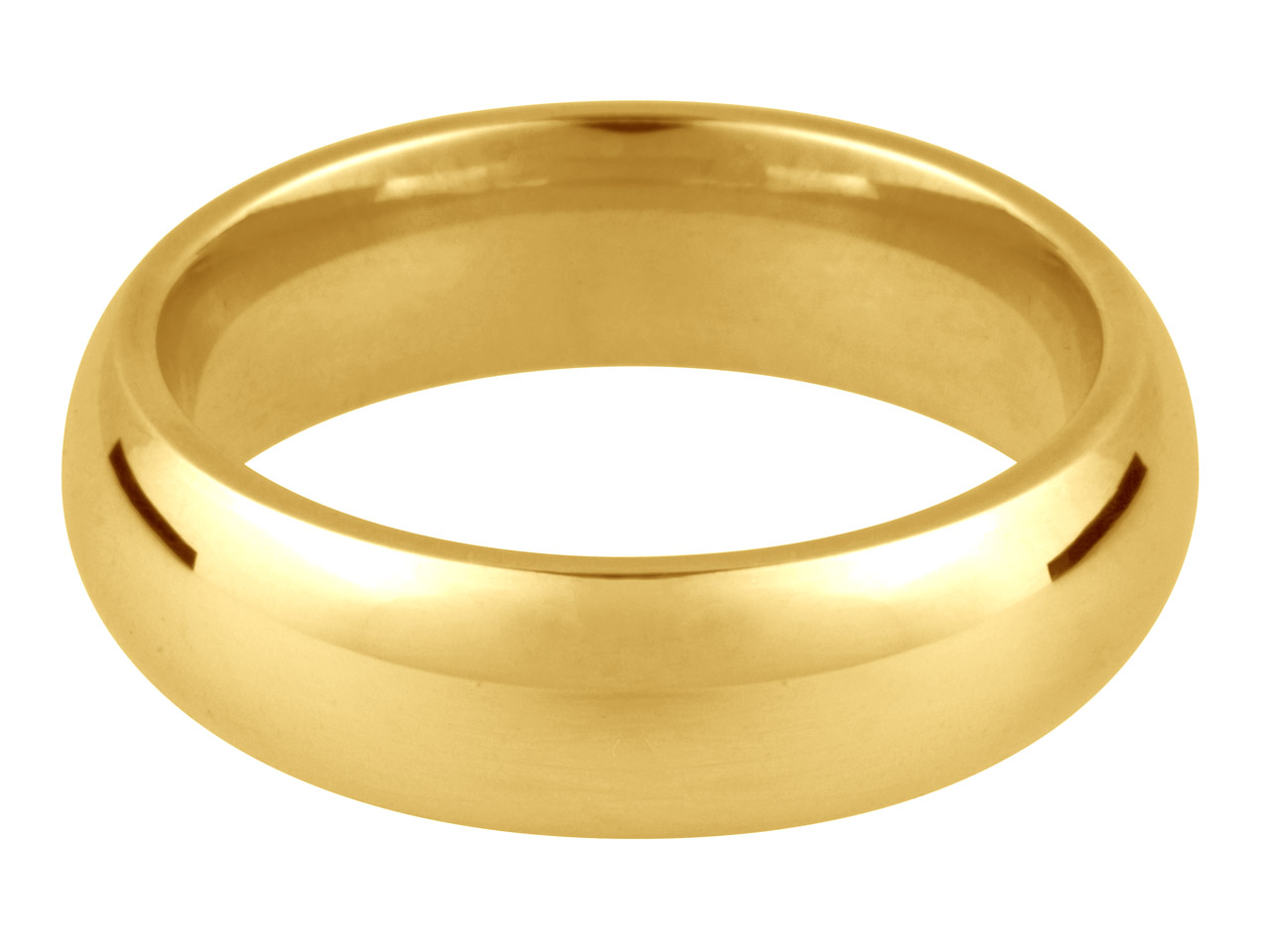 9ct Yellow Court Wedding Ring 4.0mm N 3.1gms Light Weight Hallmarked    Wall Thickness 1.48mm